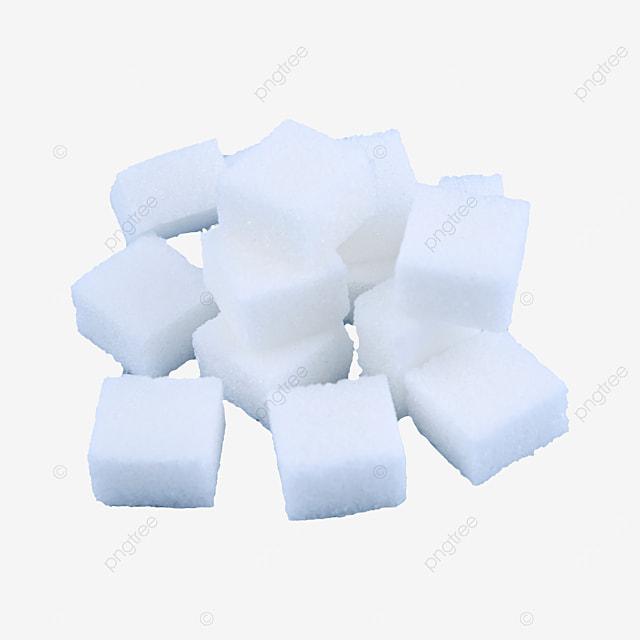 white sugar cube placed