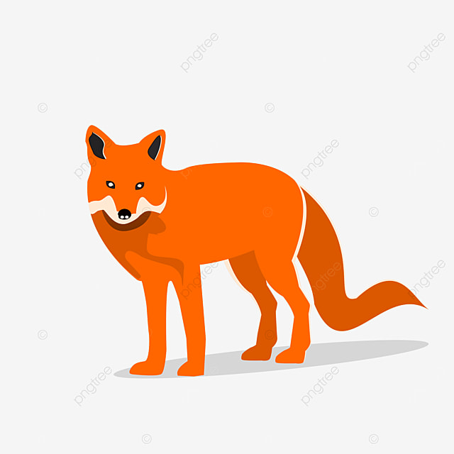 Fox Animal Vector With Shadow Fox Clipart Orange Fox Png Transparent Image And Clipart For Free Download