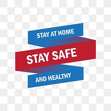 Оставайтесь на дому ленты иллюстрации для вируса короны, Оставайтесь в домашних условиях дома, Текст, иллюстрация PNG ресурс рисунок и векторное изображение