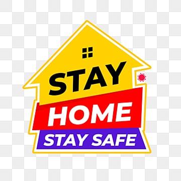 оставайся дома в безопасности, вирус, медицинская, Карантин PNG ресурс рисунок и векторное изображение