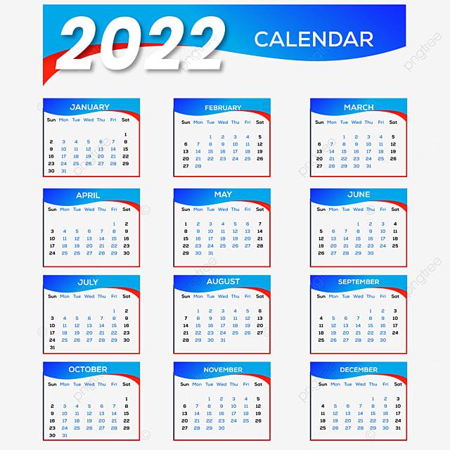 Calendrier 2022 Design Design De Calendrier Pour 2022 Nouvel An, Calendrier 2022, La