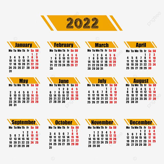 Calendrier 2022 Design 2022 Calendrier Du Nouvel An Design Templete, Calendrier