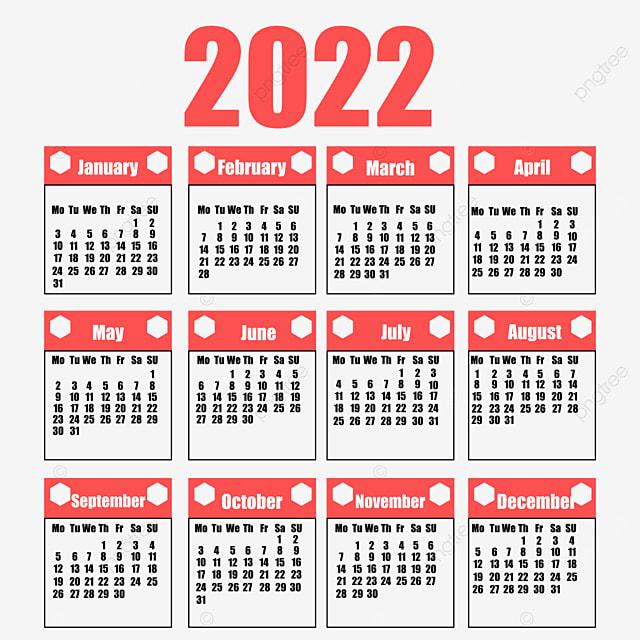 Calendrier 2022 Png Calendrier 2022 Bonne Année, Planificateur, Calendrier, Calendrier