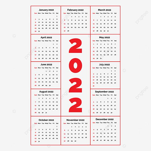 Calendrier En Ligne 2022 Ligne Verticale 2022 Calendrier De Vecteur Design Image De L'image