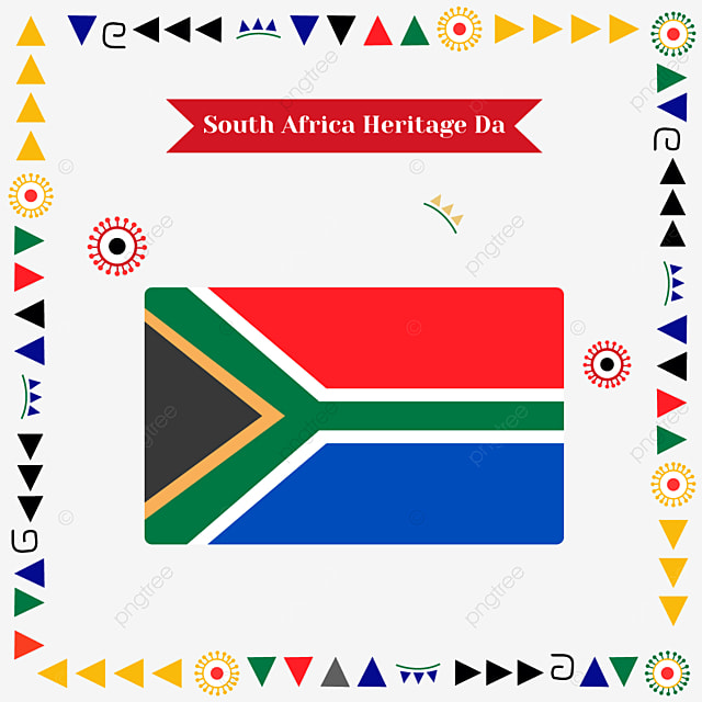 south africa heritage day banner geometric decoration