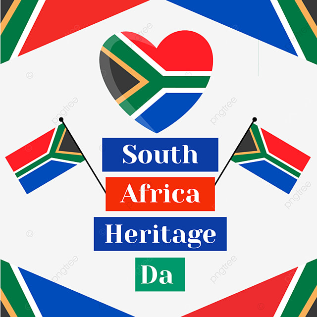 south africa heritage day love flag