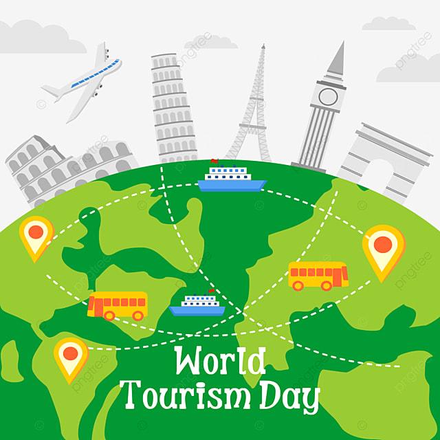 world tourism day beautiful architectural pattern