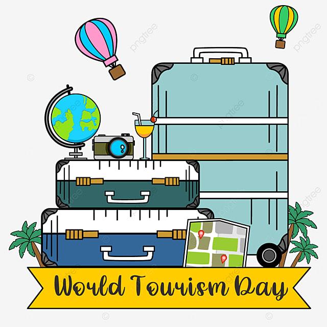 world tourism day beautiful luggage pattern