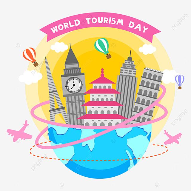 world tourism day beautiful pattern
