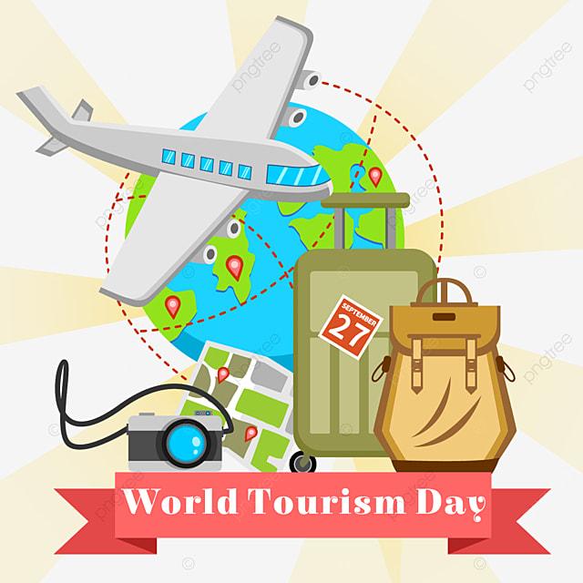 world tourism day beautiful tourism item pattern
