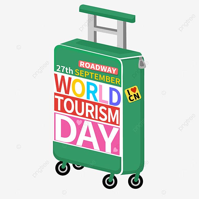 world tourism day beautiful travel box pattern