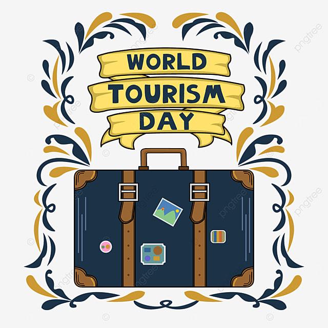 world tourism day pretty suitcase