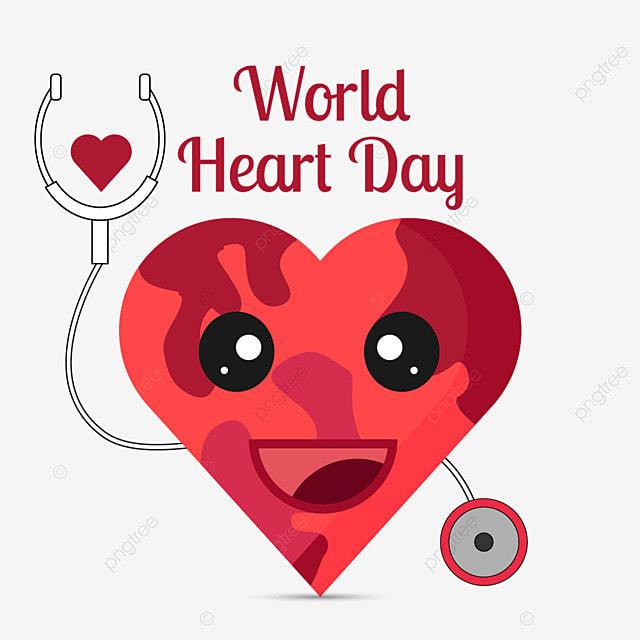 world heart day cute flat illustration