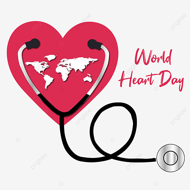 world heart day vector with stethoscope