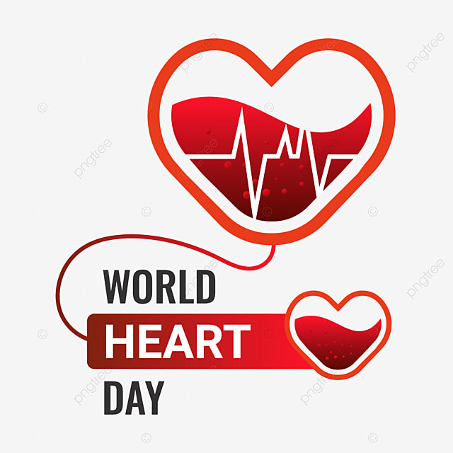 world heart day free png vector illustration