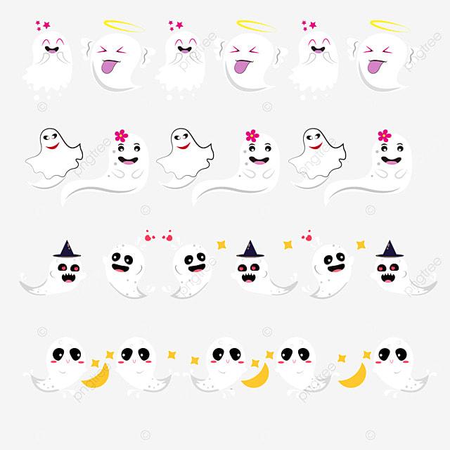 cartoon cute emoji halloween border dividing line
