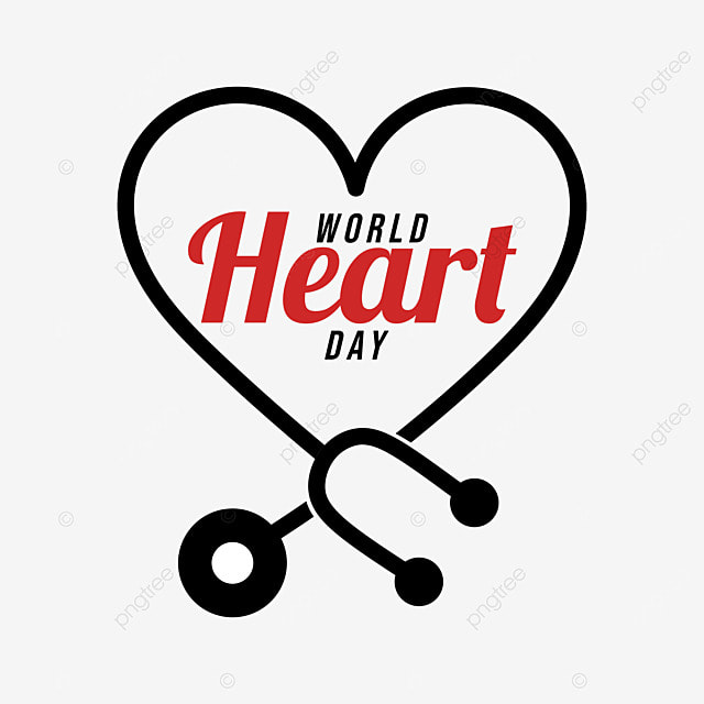world heart day design with stethoscope element