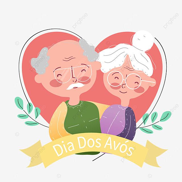 brazilian grandparents day cartoon image