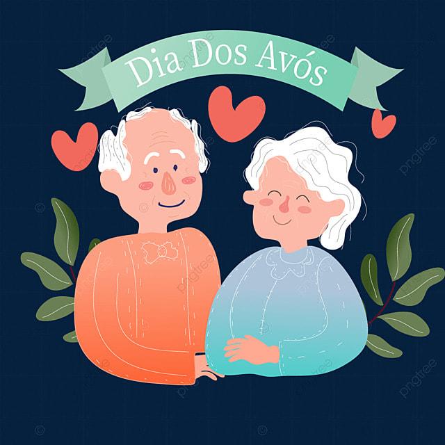 brazilian grandparents day gradient sweater
