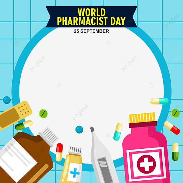 world pharmacist day on 25 september celebration twibbon frame design