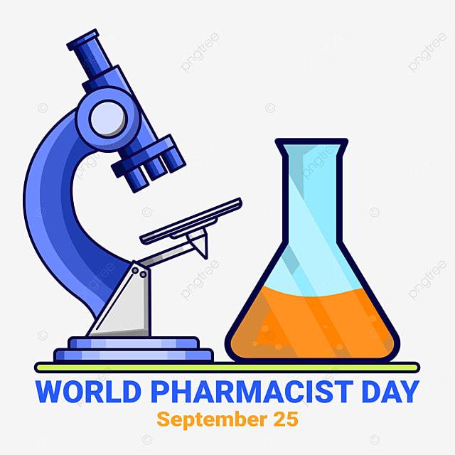 illustration of microscope for world pharmacist day