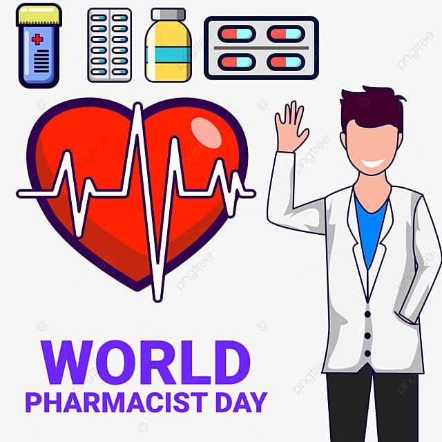 world pharmacist day 25 september illustrtaion