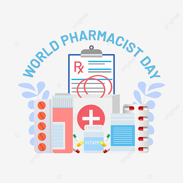 world pharmacist day png design with vector art