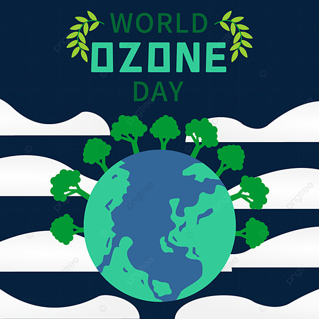 world ozone day beautiful colorful illustrations