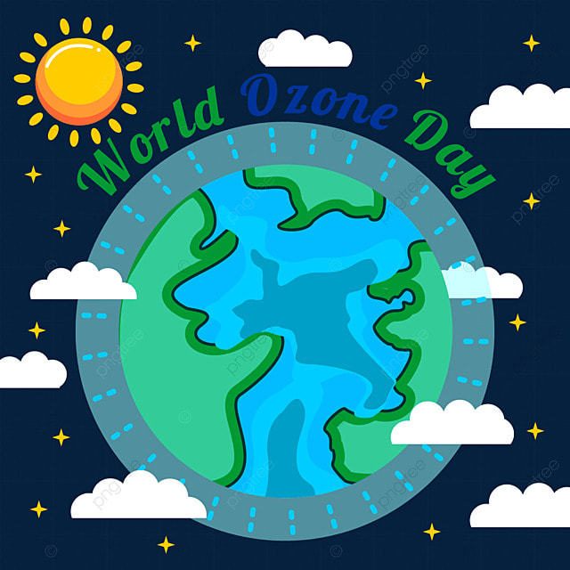 world ozone day color earth illustration