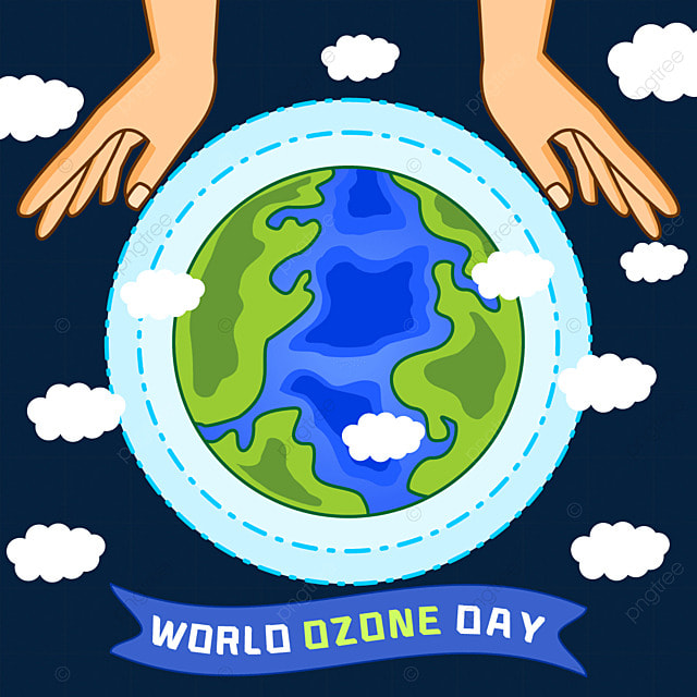 world ozone day color protection ecological environment illustration