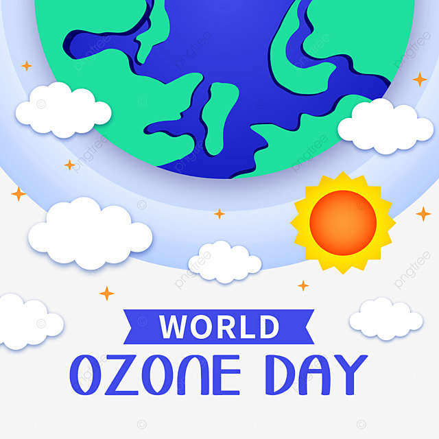 world ozone day earth and layer illustration
