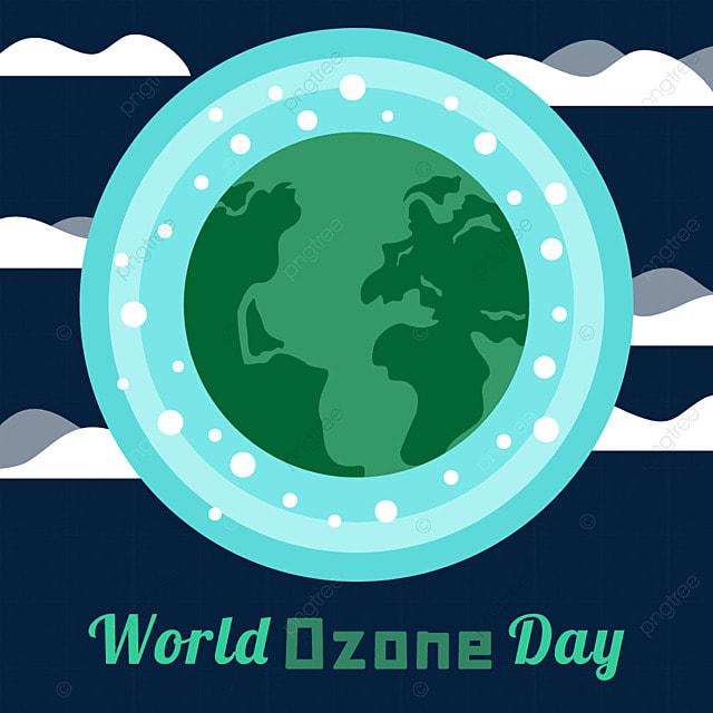 world ozone day green earth illustration