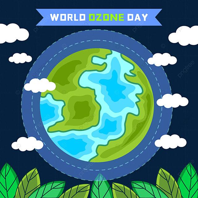 world ozone day green ecological environment beautiful illustration