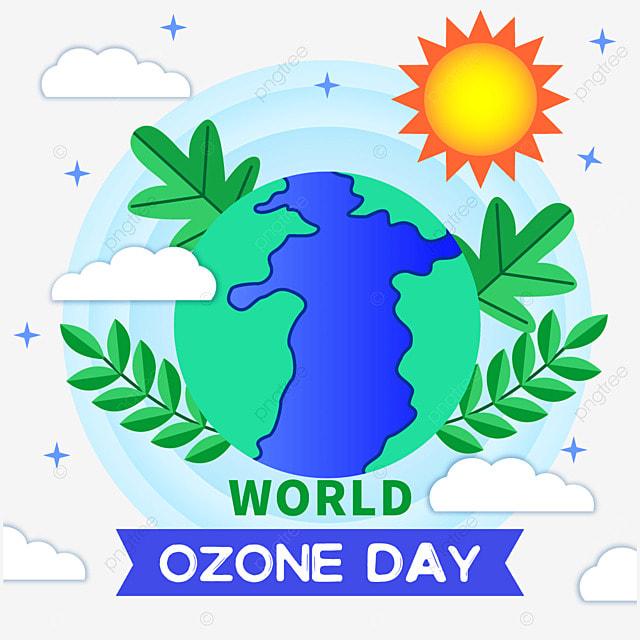 world ozone day green environment illustration