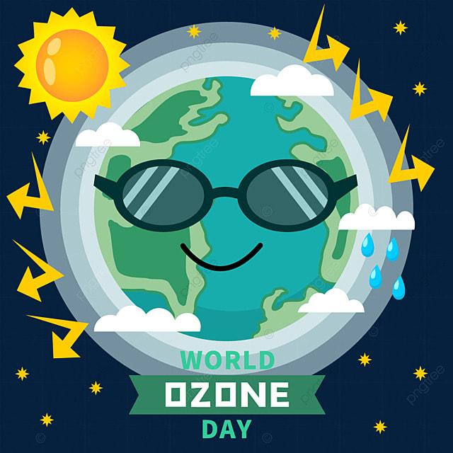 world ozone day layer blocking ultraviolet illustration