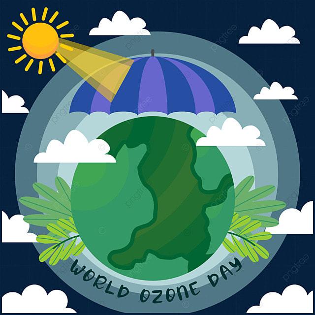 world ozone day protection layer illustration