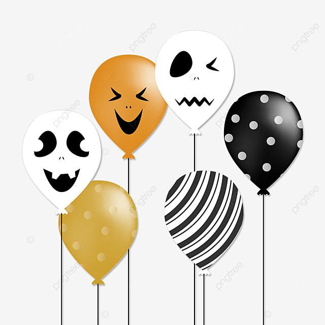 halloween scary monster cartoon balloon
