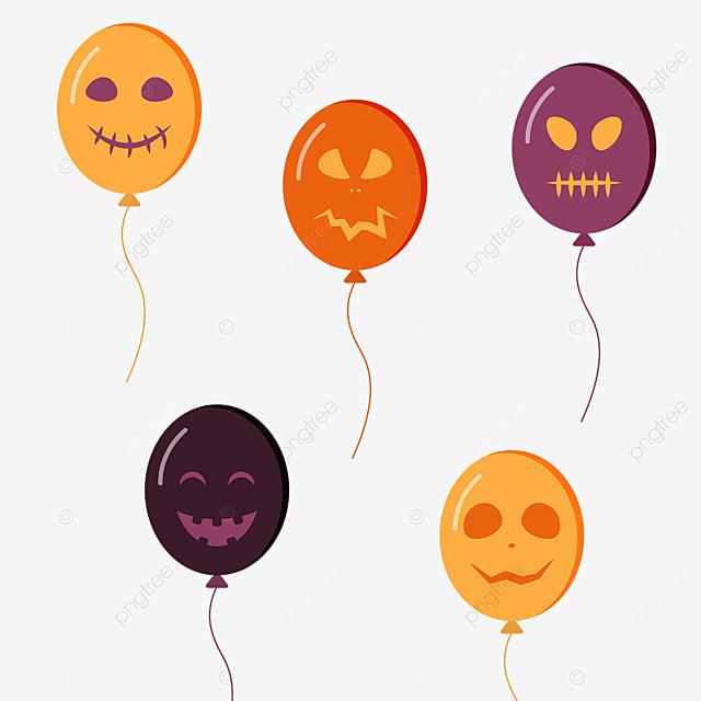 cartoon scary halloween monster ghost face balloon