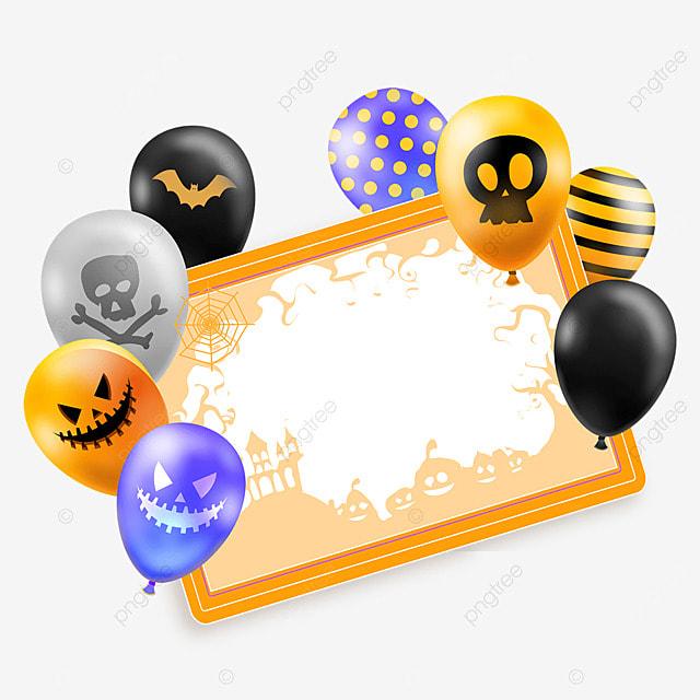 halloween balloon greeting card colorful texture