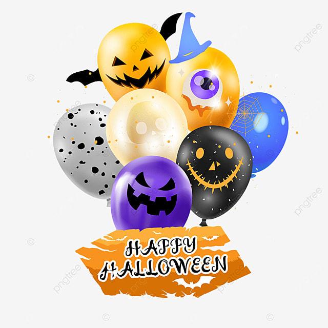 halloween balloon party color