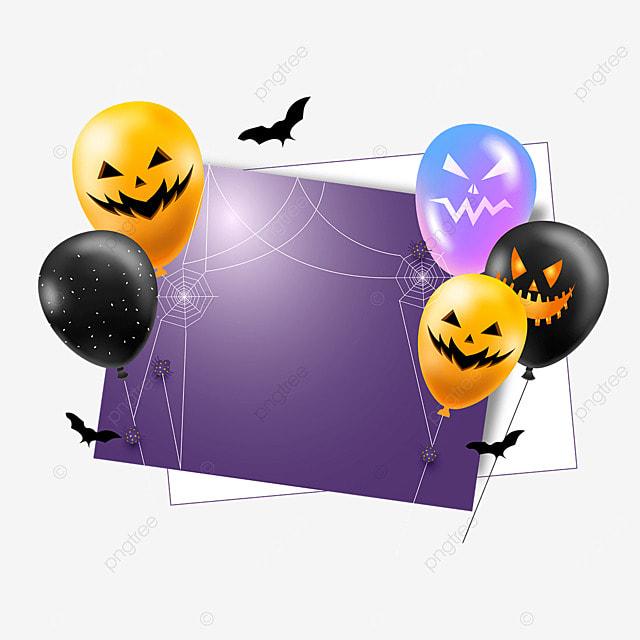 halloween grimace balloon greeting card