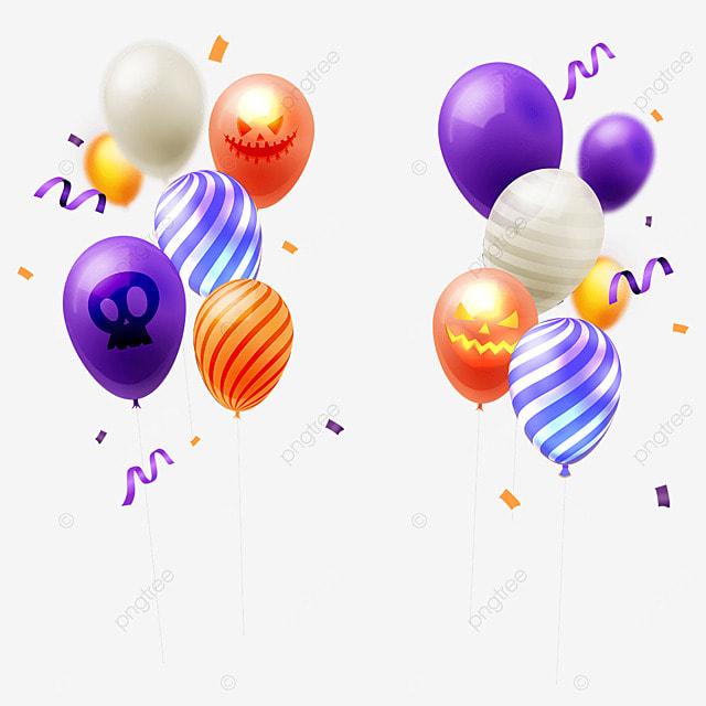 halloween party balloon color