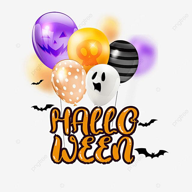 halloween balloon pattern color