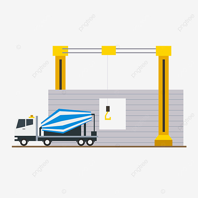 3d printing technology construction cement truck illustration