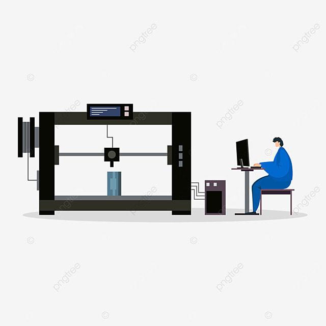 3d printing technology employee development model illustration