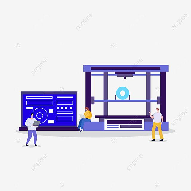 3d printing technology engineer computer illustration