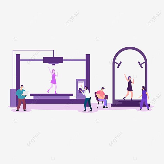 3d printing technology printer human body model illustration