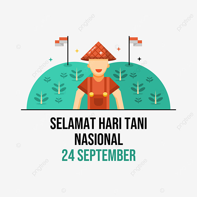 indonesian farmers day campaign with transparent background