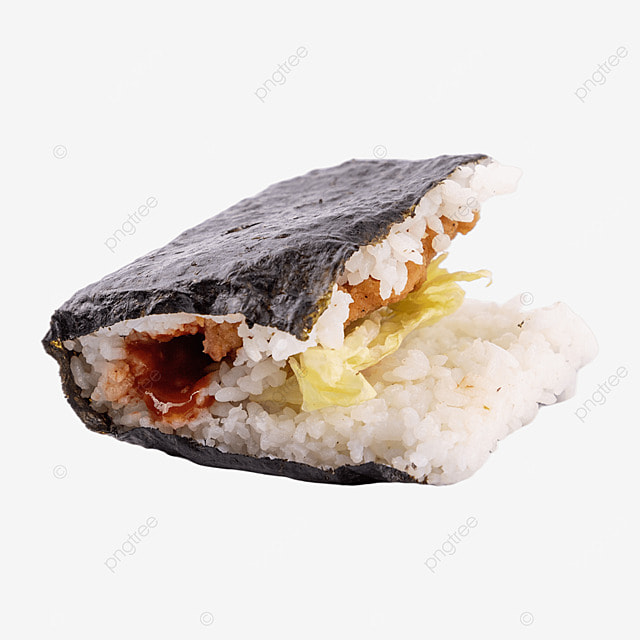 rice ball meat floss fast food sushi