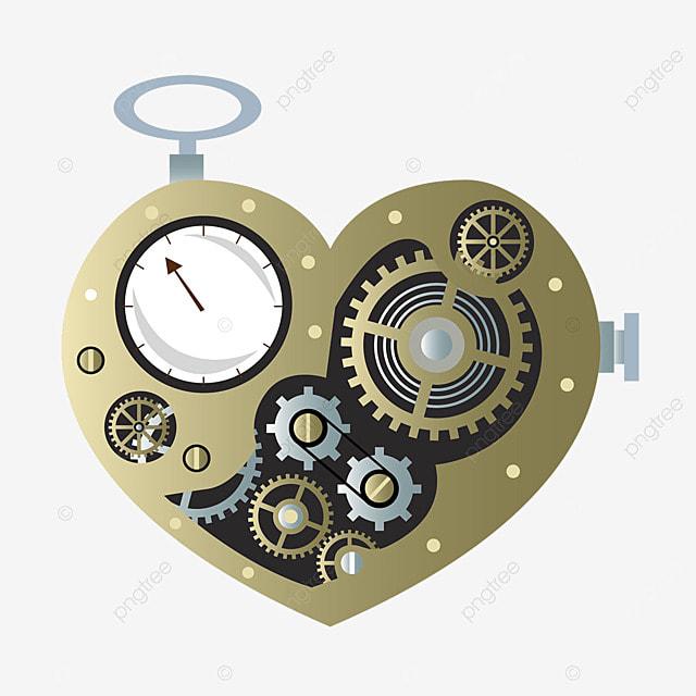 love mechanical metal gear timer retro steampunk